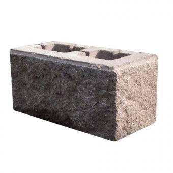 """Блок облицовочный """"Рваный камень"""" угловой (серый)"""