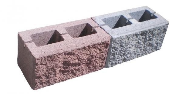 """Блок облицовочный """"Рваный камень"""" рядовой (серый)"""